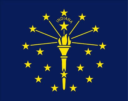 Indiana Flag Illustraion