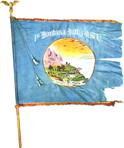 First Montana Infantry Flag