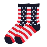 Women's Stars & Stripes Socks - Cotton Blend