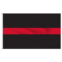 U.S. Thin Red Line Flag - 3' x 5' - Sewn Nylon