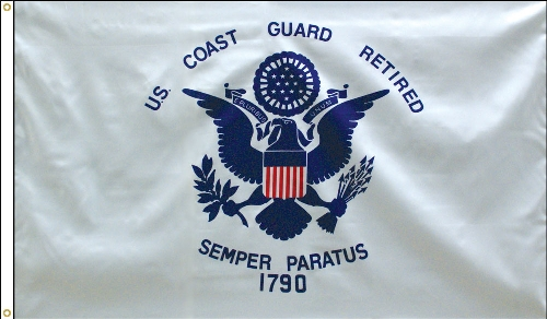 Coast Guard Retirement Flag - 3' x 5' - Polyester