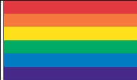 "Rainbow Flag - 16"" x 24"" - Nylon"