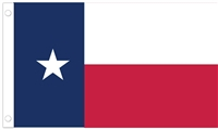 "Texas State Stick Flag No Fray - 4"" x 6"" - Cotton"