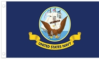 "U.S. Navy Stick Flag - 12"" x 18"" - E-Polyester"