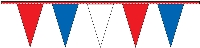 Red White & Blue Pennant Streamers - 30' - Plastic