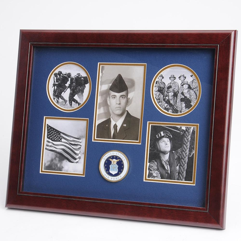 U S Air Force Medallion 5 Picture Collage Frame