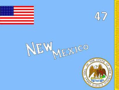 1915 Unofficial New Mexico Flag
