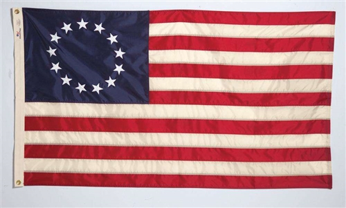 Betsy Ross Flag - 2' x 3' - Aniline Dyed Nylon