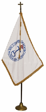 United Church of Christ Indoor Display Oak Flag Set - 3' x 5' - Nylon