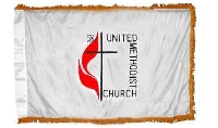 United Methodist Indoor Flag w/ Pole Hem - 4' x 6' - Nylon