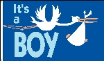 It's a Boy Flag - 3' x 5' - Nylon