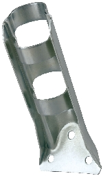"Stamped Steel Heavy Duty Flag Pole Bracket - For 3/4"" Pole Diameter - Silver"