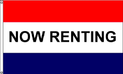 Now Renting Message Flag - 3' x 5' - Nylon