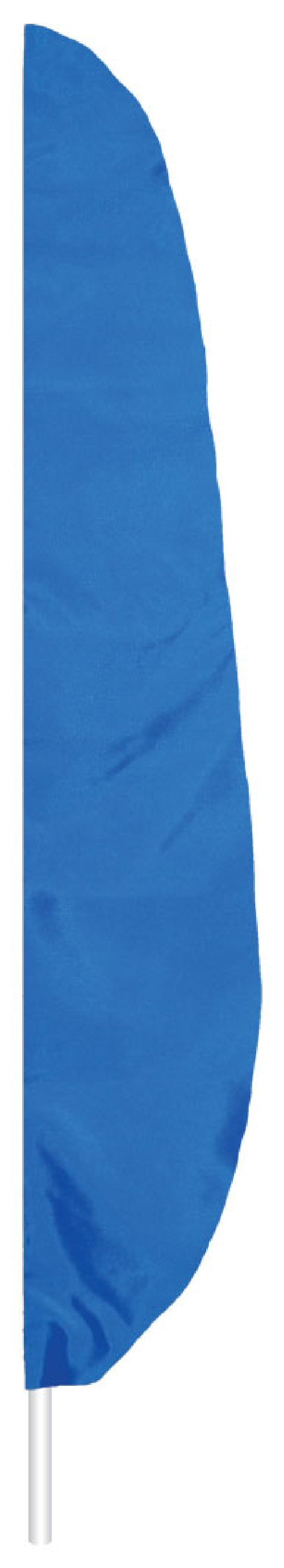 "Royal Blue Feather Flag - 7' x 17"" - Nylon"
