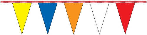 Multi-Color Pennant Streamers - 30' - Plastic