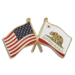 California Lapel Pin - Double
