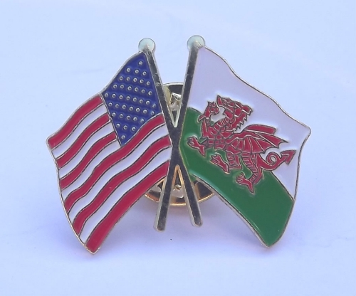 Wales Lapel Pin - Double
