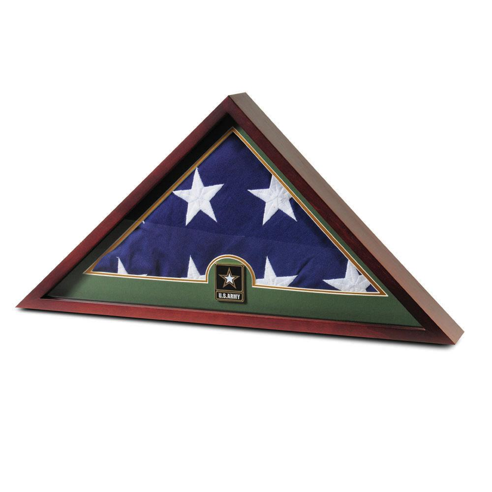 Army Flag Display Case Complete With Official Interment Flag